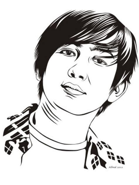 vector  art potrait bolang shi bungsu menggambar