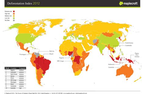 south america deforestation map map of the day the world s most deforestation