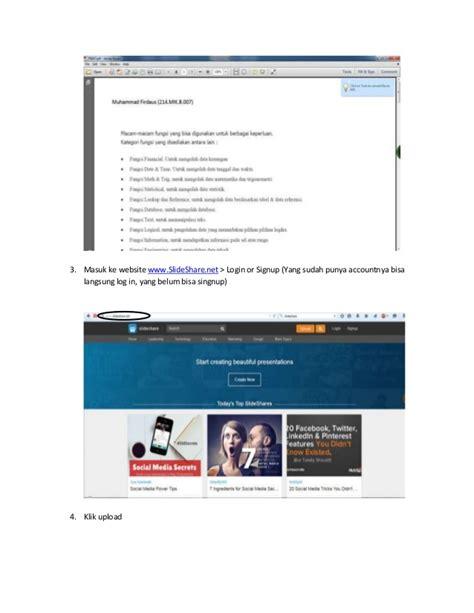 cara membuat blog file pdf cara membuat pdf dan mengupload ke slideshare