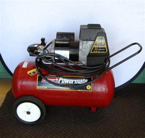 coleman powermate  gallon  hp direct drive air compressor ebay