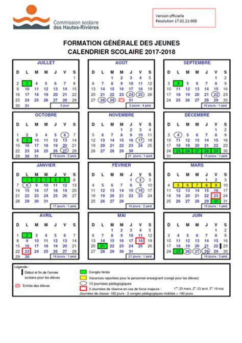 calendrier scolaire quebec calendrier vacances scolaires quebec 2018