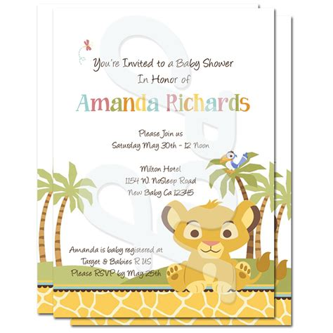 Baby Shower Personalized Invitations by King Baby Shower Personalized Invitations