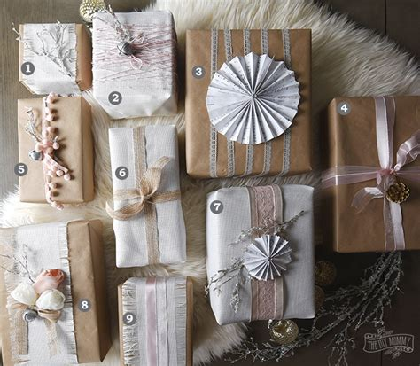 shabby chic christmas gift wrapping ideas 12monthsofdiy the diy mommy