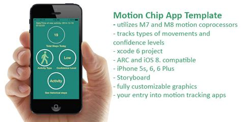 apple motion coprocessor app template for m7 and m8 by
