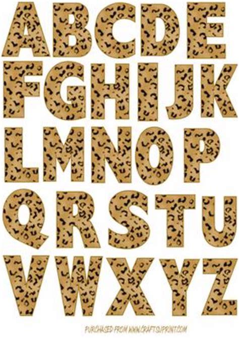 printable animal print letters leopard print alphabet uppercase cup23298 107 craftsuprint