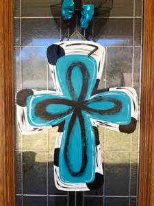 wooden cross door hanger painted any occasion