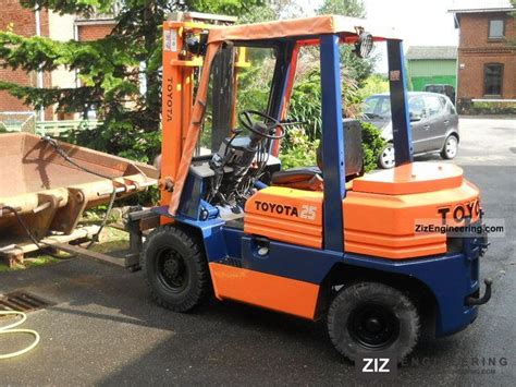 toyota 25 forklift specifications toyota fd f 25 02 5 1989 front mounted forklift truck