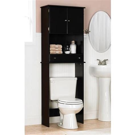 Space Saver Over The Toilet Cabinet Espresso Walmart Com Bathroom Shelves Walmart