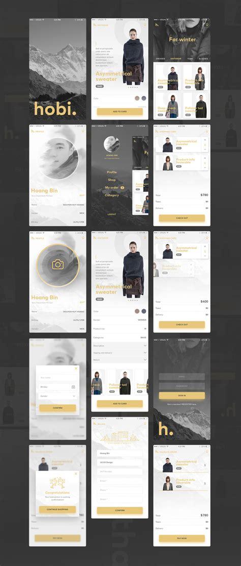 home screen design inspiration elegant e commerce app ui free responsive joomla and