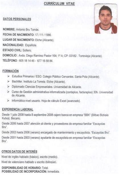 Modelo Curriculum Vitae Uruguay Sesi 243 N 24 Y 25 Orientaci 243 N Laboral Plan De Acci 243 N Tutorial Para 4 186 Eso