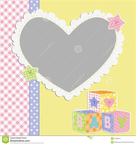 baby card template template for baby s card stock vector illustration