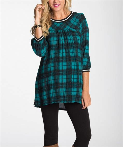 Buffy Top Tunik pinkblush maternity pinkblush jade black plaid maternity babydoll top plaid tunic