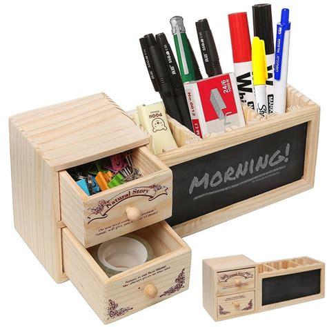 Office Supplies Desk Organizers Desk Organizer Caddy Wood Pencil Pen Holder Paper Clip Storage Office Supplies Ebay