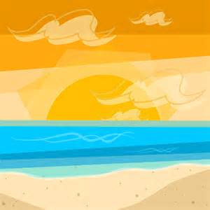 cartoon beach sunset background images amp pictures becuo
