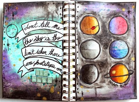 Black Color Quotes by Punk Projects Galaxy Moon Art Journal