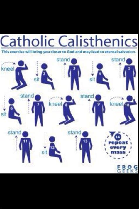 great catholic parishes a bahahaha we always said catholics got a good workout at church just for giggles