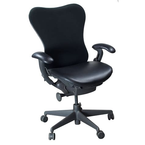 Herman Miller Mirra Chair by Herman Miller Mirra Used Leather Seat Task Chair Black