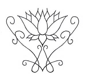 Simple Lotus Lotus Flower Line Drawing Cliparts Co