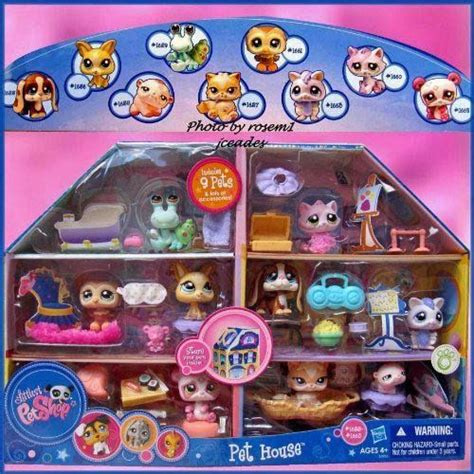 lps house with 9 pets littlest pet shop