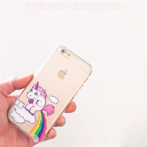 Unicorn For Iphone 6s pooping unicorn rainbow clear tpu cover plastic unicorns and phone