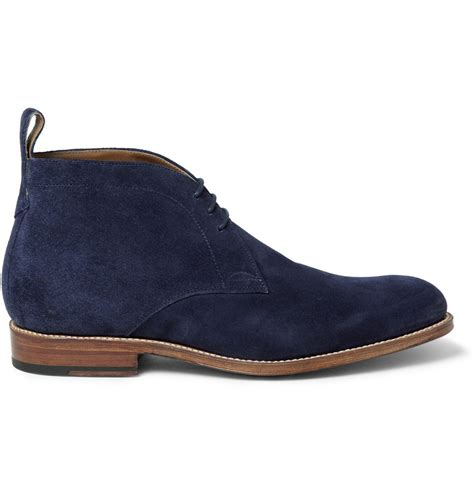 suede chukka boots foot the coacher suede chukka boots in blue for