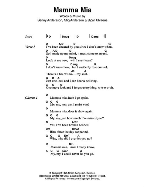 testo sos abba mamma sheet by abba lyrics chords 46727