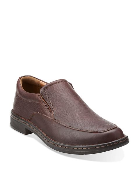 clarks loafers for clarks kyros free loafers in brown for lyst