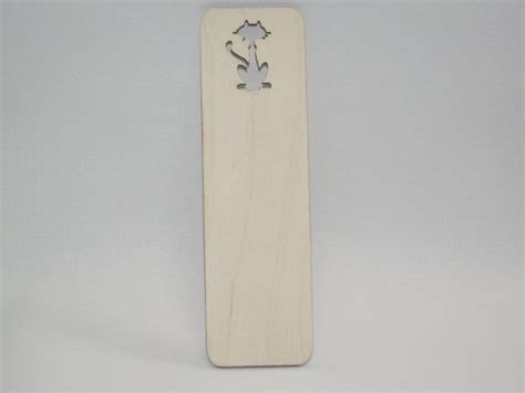 Plain Bookmarks To Decorate by Wooden Bookmarks Shape Cut School Accessories