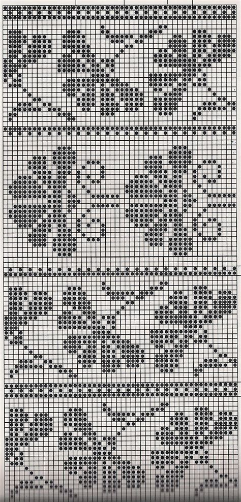 fair isle table runner 129 best filet crochet images on knitting