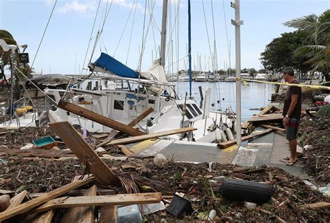 damaged boats for sale florida florida keys damage by hurricane irma detailed in first
