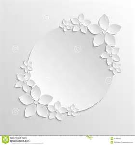 grayscale template paper badge template with paper white flowers on grayscale