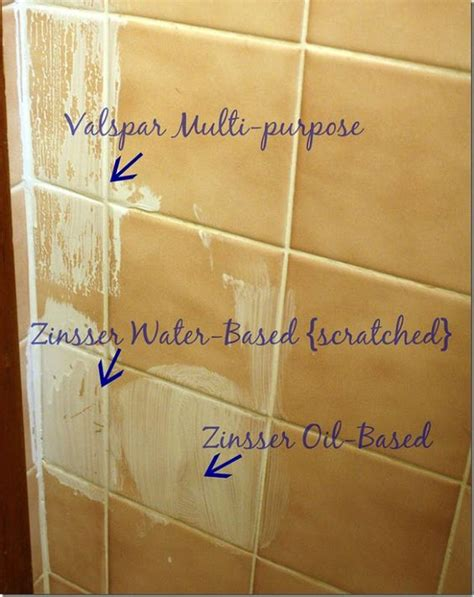 how to paint over bathroom tile primer for painting over tile home pinterest