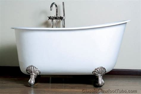 deep cast iron bathtub 58 quot cast iron swedish slipper tub classic clawfoot tub