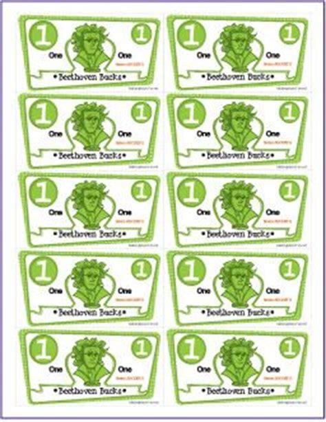 classroom bucks template beethoven bucks printable student incentive packet