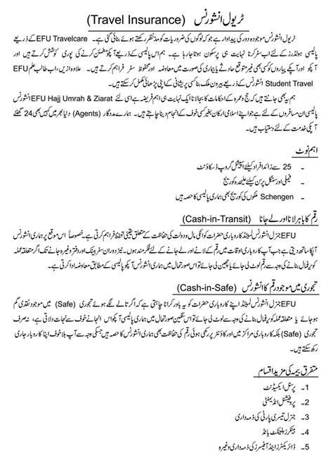 Agreement Letter In Urdu Motor Efu Insurance