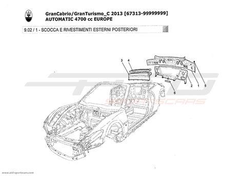 maserati parts catalog maserati granturismo grancabrio 4 7l auto 2013 bodywork