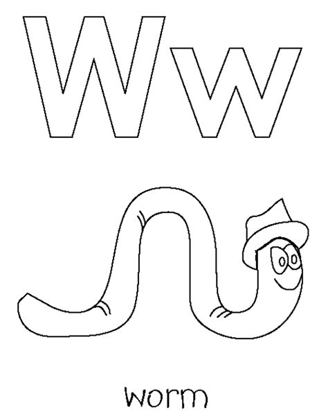 worm coloring pages coloring home