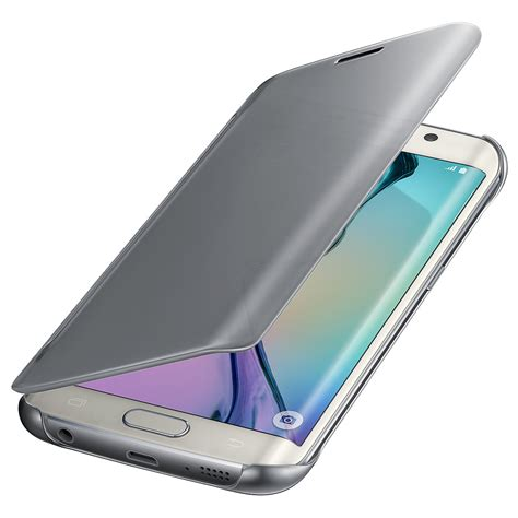 Casing Samsung Galaxy S6 Edge Clear S View Flip Cover Aksesoris samsung galaxy s6 edge clear view silver ef