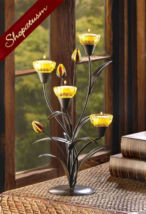 tiger centerpieces yellow tiger candle holder floral wedding centerpiece