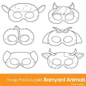 printable animal masks templates barnyard animals printable coloring masks farm animal mask