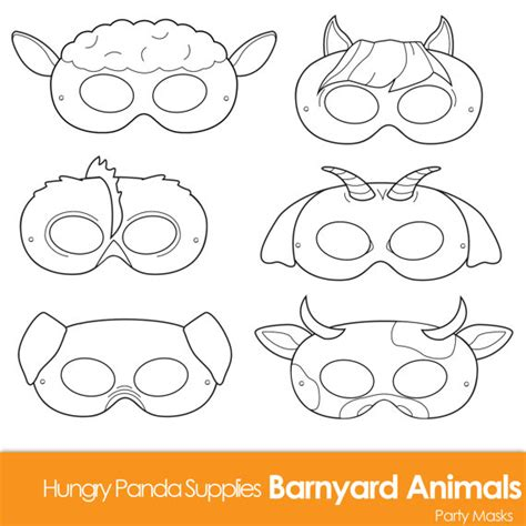 farm animal mask templates barnyard animals printable coloring masks farm animal mask