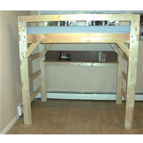 Wood Loft Beds by Loft Bed Xo Solid Wood Loft Bed With Bookcase And Angle