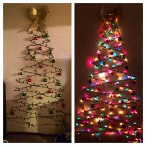 diy christmas tree cheap easy and space friendly way to