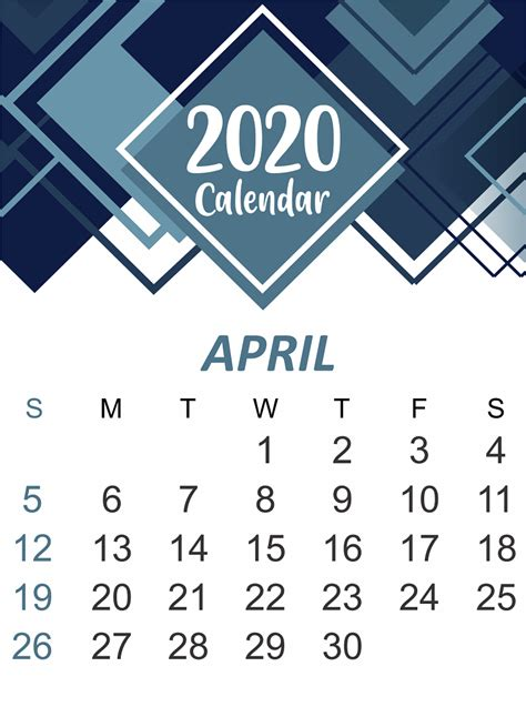 april  printable calendar   word excel printable april calendar template