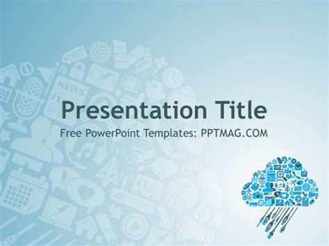 Free Cloud Computing Powerpoint Template Pptmag Cloud Template For Powerpoint