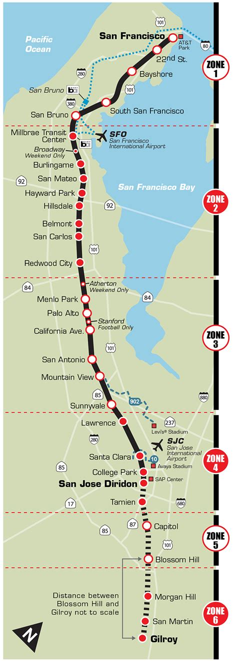 san jose caltrain map the baffling bay area transportation system