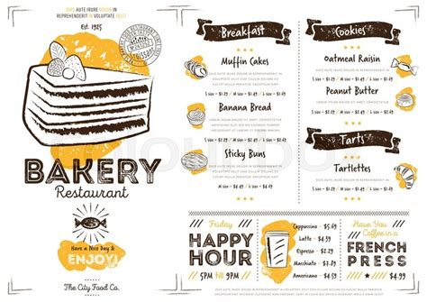 restaurant flyer design vector restaurant bakery cafe menu template flyer vintage design