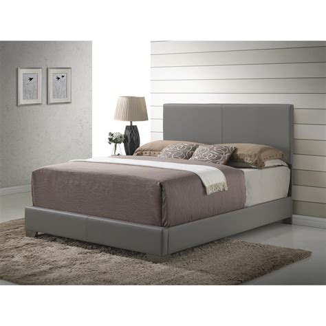 leather headboards queen size bed faux leather upholstered panel bed with headboard and
