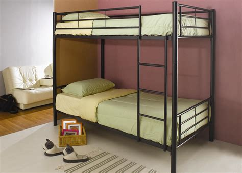 bunk beds metal 460072b black metal bunk bed