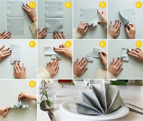 serviettenfalttechniken mit papierservietten servietten falten anleitung f 252 r 10 festliche formen